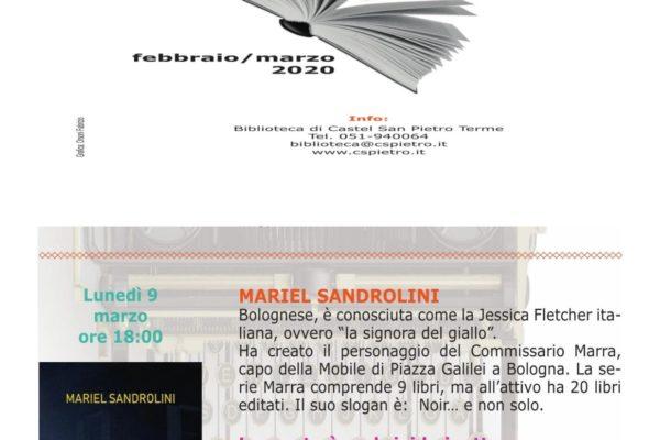 La signora del giallo… ovvero, Mariel Sandrolini, in biblioteca con l'ultimo thriller